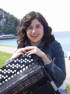 Arantza Aguirre, acordionista.